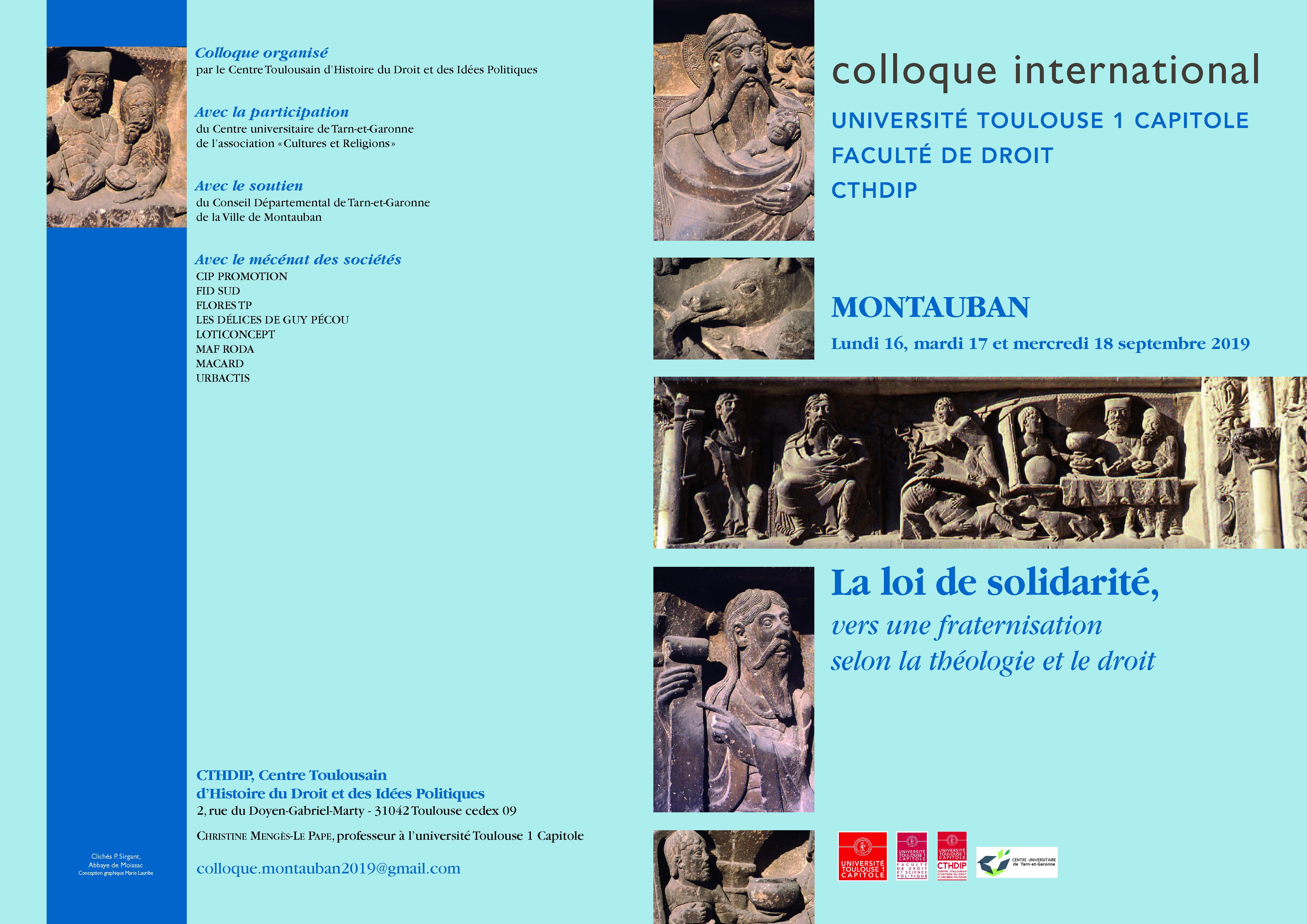 Affiche colloque Montauban 2019