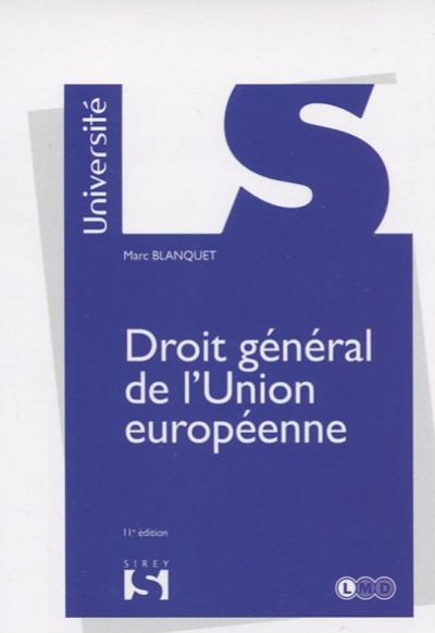Droit general de l'Union 11ed 2018.png
